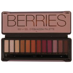 BYS Berries Eyeshadow Palette features an array of 12 expertly chosen, highly pigmented matte & metallic eyeshadows. The 12 piece palette comes housed in a modern, embossed tin, featuring a mirror and 2 dual end applicators. Drugstore Eyeshadow Palette, Eyeshadow Basics, Eyeshadow For Blue Eyes, Peach Eyeshadow, Natural Eyeshadow, Makeup Dupes, Makeup Palette, Eyeshadow Makeup, Eyeshadows