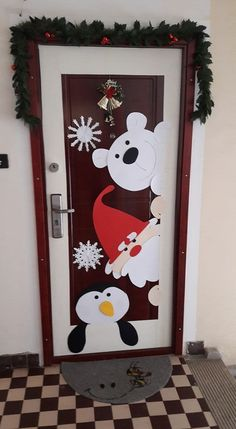 50 Christmas Door Decorations for Work to help you Ace the Door Decorating Contest - Hike n Dip - - Looking for quick Christmas Door Decoration Ideas? Here are the best Christmas Door Decorations for work to ace the Christmas door decorating contest. Office Christmas, Christmas Crafts For Kids, Xmas Crafts, Christmas Art, Simple Christmas, Snowman Crafts, Decor Crafts, Homemade Christmas, Christmas Budget