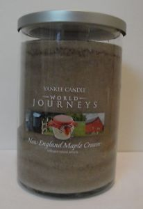 New England Maple Cream (22oz large tumbler)  Yankee Candle World Journeys Collection