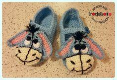 Baby slippers, eeyore, Crochetkowo