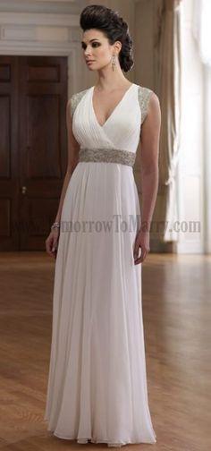 v neck mother of the bride dresses | Your Own Dresses For Mother Of The Bride Chiffon Blue Emerald V Neck ...