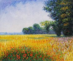 Oat Fields - Oil Painting Reproduction On Canvas
