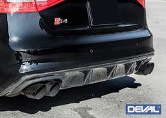 Carbon Fiber Rear Diffuser for 2008+ Audi S4/A4 [B8] by DEVAL [D28244]
