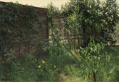 'Paul' Jan van der Ven (1892-1972) A little corner in the garden, oil on canvas 45.3 x 65.3 cm, signed lower left. Collection Simonis & Buunk, The Netherlands