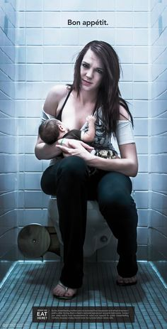 Feeding your child where people shit and pee. !!!yuck. This is a baby eating. This is not obscene nor is it porn. Dont get it confused #breastfeeding