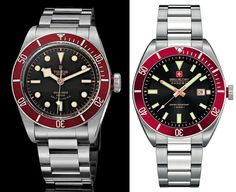 Tudor Black Bay Red vs Swiss Military Hanowa Skipper Tudor Black Bay Red, Expensive Watches, Elegant Watches, Famous Brands, Omega Watch, Rolex Watches, Military, Accessories, Army