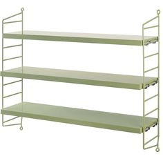 String Pocket Shelving is the 'starter' or smallest composition in the String collection. Here it's available in gorgeous Green