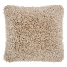 Lend a feeling of funky fresh fashion to any living area with this Mina Victory Lush Yarn Shag I throw pillow. Japanese Bedroom, Off Colour, Victorious, Lush, Beige, Throw Pillows, Fabric, Bedroom Inspiration, Living Area