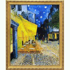 off Hand made oil painting reproduction of Cafe Terrace on the Place du Forum, one of the most famous paintings by Vincent Van Gogh. The first painting of Van Gogh's to feature his remarkable rendering of starry skies; Café Terrace on the Place . Van Gogh Pinturas, Vincent Van Gogh, Van Gogh Art, Art Van, Claude Monet, Most Famous Paintings, Famous Artwork, Famous Pieces Of Art, Van Gogh Museum
