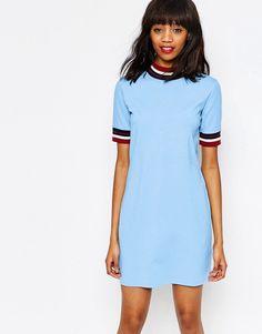 Image 1 ofMonki Contrast Striped Dress