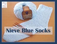 NIEVE BLUE SOCKS Aprenda a tricotar um par de meias, super fácil e descomplicado, com este nosso tutorial!!!
