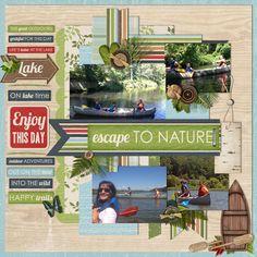 #papercraft #scrapbook #layout escape+to+nature - Scrapbook.com