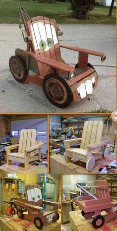 "DIY Craft Project: ""Tow Mater"" Adirondack Chair"