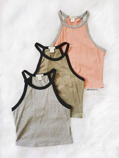 Halter Crop Top. We adore this stylish crop top with chic halter detail in contrast binding and awesome fit. Perfect for just any day or special occasions. 95%Cotton 5%Spandex Pictured : Size Small