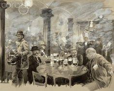 Winter Bierhaus, Vienna by Wilhelm Gause