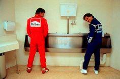 Jean Alesi and Alain Prost at the 1993 Australian Adelaide.and a paparazzi Alain Prost, Mario Andretti, John Watson, Grand Prix, Motogp, Hans Joachim Stuck, Matra, Ferrari, Formula 1 Car