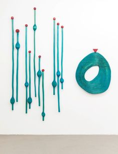 Matthew Ronay, Abcesses/Vibrations, 2012, Basswood and dye, 239 x 213 x 10 cm