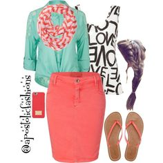 A fashion look from April 2015 featuring long sleeve blouse, white shirts and pencil skirts. Browse and shop related looks. Cute Fashion, Modest Fashion, Look Fashion, Fashion Outfits, Womens Fashion, Modest Outfits, Summer Outfits, Cute Outfits, Pentecostal Outfits