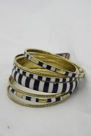 Skinny Striped Bangles - Front full body