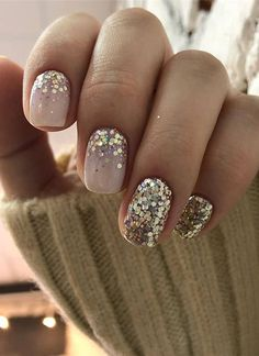 103 Pretty Nail Art Designs Ideas For 2019 Ongles-nails Cute Nail Art Designs, Short Nail Designs, Diy Nails, Cute Nails, Glitter Nails, Design Ongles Courts, Jolie Nail Art, Gel Nagel Design, Short Nails Art