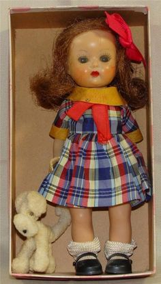NANCY ANN STORY BOOK MUFFIE  tagged dress & original dog