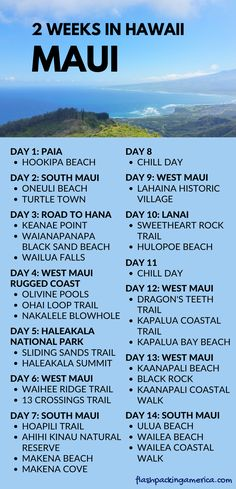 Maui Hawaii itinerary: Things to do on Maui Hawaii list - Maui Hawaii vacation ideas and Hawaii travel destination tips. Maui Hawaii things to do list, place - Maui Hawaii, Hawaii Vacation, Italy Vacation, Vacation List, Italy Honeymoon, Hawaii Honeymoon, Hawaii Life, Maui Travel, Travel List