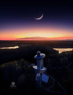 """""""Kai saulė kažkur už Atlanto. Molėtų astronomijos observatorija"""" #Molėtai. We love Lithuania - Photo by: Mantas Kristijonas Kuliešis"""