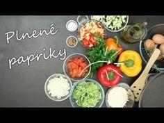 Vegetariánske pečené plnené papriky - YouTube