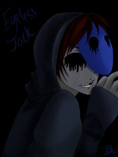 Eyeless Jack by BakaIdiota on DeviantArt Creepypasta Slenderman, Creepypasta Characters, Eyeless Jack, Jeff The Killer, Liu Homicidal, Horror Party, Creepy Pasta Family, Dont Hug Me, Japanese Horror