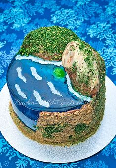 Island cake with jello  #tort