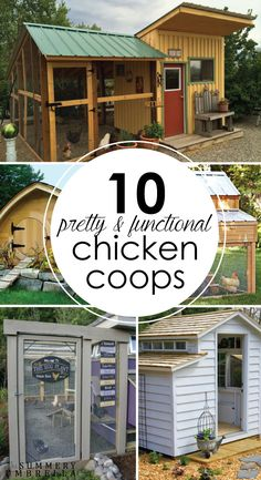 Are you looking for beautiful inspiration for your own chicken coop? Check out my top 10 Pretty and Functional Chicken Coops right now! 10 Pretty and Functional Chicken Coops That Will Inspire 🖤Me *Hühner/Enten im Garten* Are you lookin Cheap Chicken Coops, Chicken Coup, Portable Chicken Coop, Best Chicken Coop, Backyard Chicken Coops, Building A Chicken Coop, Chicken Runs, Chickens Backyard, City Chicken
