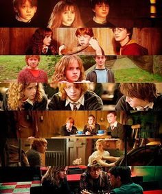 Golden Trio Through The Years Golden Trio Evolution Harry Potter Hermione Granger Ron Weasley