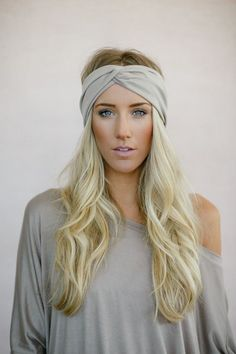 Turban Headband Women's Solid Jersey Turban Hair Band, Headband Head Wrap with Twisted Center for Women and Girls in Taupe (HB-161) on Etsy, $18.00
