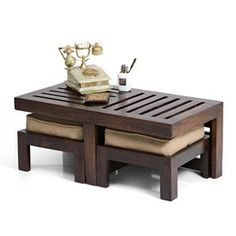 Kafano Coffee Table Set (Walnut Finish)