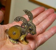 Steampunk artists make a lot of these really cute little sculptures.