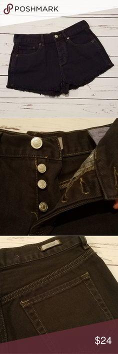 NWOT Brandy Melville Black Denim Shorts Size 26 Brand New without tags! Size 26 from Brandy Melville. Black denim cut off shorts. Brandy Melville Shorts Jean Shorts