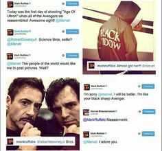 Mark Ruffalo Tweets Pics From The Avengers 2: Age Of Ultron Set, Gets Yelled At…