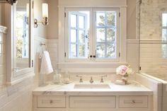 Edgecomb Gray - Traditional - bathroom - Benjamin Moore Edgecomb Gray - ScavulloDesign Interiors
