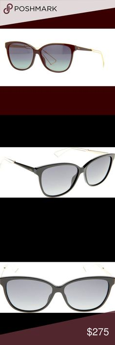 Dior Sunglasses Dior Confident 2 QFE 57 Sunglasses Womens - Frame Colour: Black with rose gold arms - Lens Colour: Graduated grey Dior Accessories Sunglasses