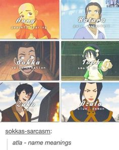 Avatar: The Last Airbender name meanings