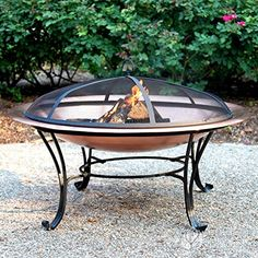 Catalina Creations 100% Solid Copper Fire Pit with Log Grate Spark Screen Lift Tool 40 in For Sale https://bestpatioheaterreviews.info/catalina-creations-100-solid-copper-fire-pit-with-log-grate-spark-screen-lift-tool-40-in-for-sale/
