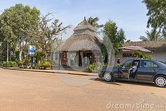 Entrance to The reception resort Hotel in Gambia , Africa