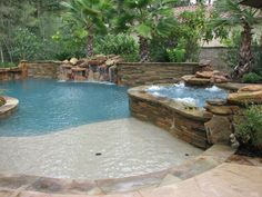 Waterfall onto a tanning ledge! Also good for little ones! http://www.marquisepools.com/gallery/natural-freeform/index.html?utm_content=buffer7f327&utm_medium=social&utm_source=pinterest.com&utm_campaign=buffer#36