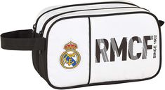 Real Madrid, Bags, Products, Toning Exercises, Cosmetic Bag, Zippers, Colors, Handbags, Bag