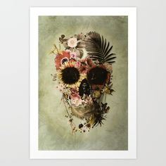 Buy Garden Skull Light Art Print by Ali GULEC. Worldwide shipping available at Society6.com. Just one of millions of high quality products available.