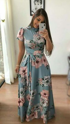 How to Wear: The Best Casual Outfit Ideas - Fashion Komplette Outfits, Modest Outfits, Modest Fashion, Hijab Fashion, Casual Dresses, Fashion Dresses, Mode Abaya, Mode Hijab, Trend Fashion