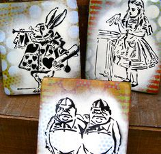 Alice in Wonderland  Graffiti Art Paintings on Canvas Original Pop Art by thefactory101, $55.00