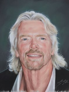Portrait of Richard Branson by petsportraitss on Etsy