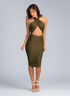 We took a sharp twist with this super sexy bodycon dress.