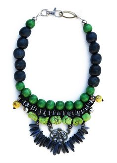 Love the green and blue combo and the design - Tsumi Jewelry